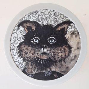 tableau rond Portrait de chat